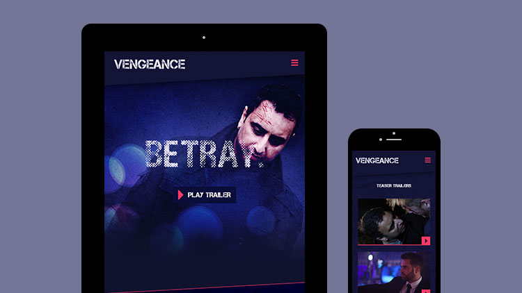 Vengeance Mobile Website