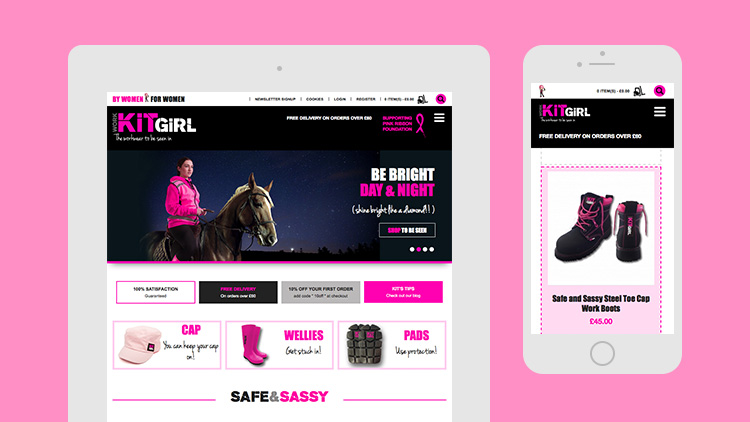 Work Kit Girl Mobile Web